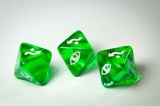 X-Wing Miniatures Original Dice Clear Green Defence Dice x 3