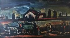 "Georges Rouault 1954 Vintage Art Print ""Funeral"" Offset Lithograph Reproduction"