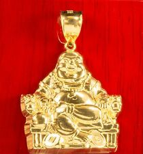 Real 10k Yellow Gold Laughing Buddha Pendant Charm Piece