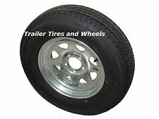 "*2* ST185/80R13 LRD KK Radial Trailer Tires on 13"" 5 Lug Galvanized Spoke Wheels"