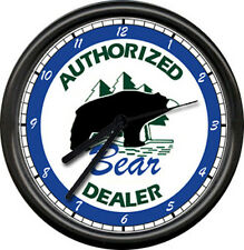 Bear Archery Dealer Bow Hunting Sign Wall Clock