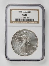 1996 Silver Eagle NGC MS70, Key Date, Great Coin, Rare Coin
