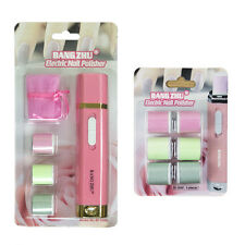 Electric Nail Buffer/ Polisher Manicure Kit Pink with 2 sets of Spare Refills