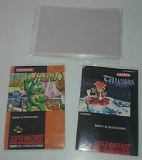 50X COVERS protectors manuals of instructions NINTENDO SNES SUPER NINTENDO