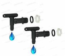2 x Water Butt Tap Replacement Water Barrel Tub Tap Release Universal Connector