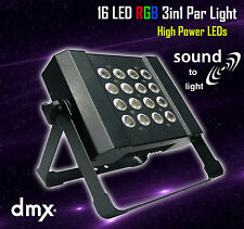 LED RGB Slim PAR Light 3in1 16x3W Sound DMX High Power Wall Wash