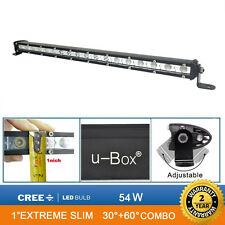 Opar 19inch 54W CREE LED 4500LM Slim Work Lights Bar Off Road Spot Flood Combo