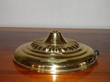 """Vintage, round, brass, table/floor lamp base and weight. 7 1/4"""" in diam. Part."""