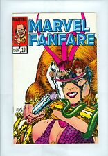 Marvel Fanfare #13 VF+ Adams Vess Autographed Perez Black Widow Nick Fury