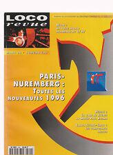 LOCO REVUE N° 590 NUREMBERG 96 / GARE DE HYERES / POSTE HYDROMETRIQUE / BB 9300