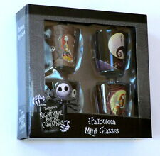 SET 4 NIGHTMARE BEFORE CHRISTMAS HALLOWEEN SHOT GLASSES NEW Jack skellington