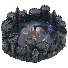 Medieval Castle Ashtray with Fire Breathing Dragon Motif Fantasy Decor Men Gifts