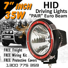 HID Xenon Driving Lights - Pair 7 Inch 35w Euro Beam 4x4 4wd Off Road 12v 24v