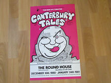 CANTERBURY Tales 1980 the ROUND House Original Theatre Poster