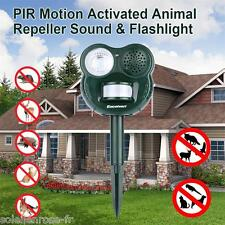 Ultrasonic Solar Animal Repeller Dog Cat Rat Chaser Deterrent Repellent Garden