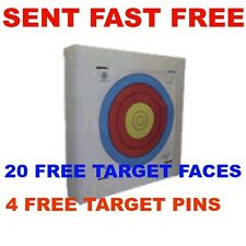 New Lightweight Archery 60x60cm Self Healing Foam Target  20 papertarget faces