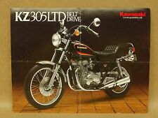Vtg 1987 Kawasaki KZ305 B4 LTD Motorcycle Street Bike Brochure Specifications