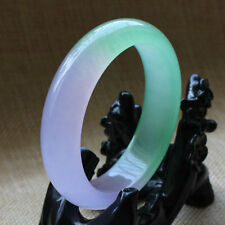 61mm Chinese Natural Beautiful Lavender Green Nephrite Jade Bangle Bracelet A-18