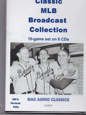 Classic Baseball radro badcasts, World Series and others, 10 games, 6 CDs MP3
