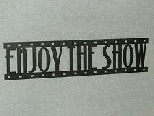 Enjoy The Show Film Strip Wood Wall Words Hanging Sign Art Decor Movie Reel
