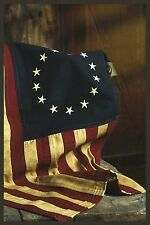 "26"" x 17"" Betsy Ross Flag - Aged Look - 100% Cotton"