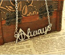Harry Potter Death Hollow Always Pendant Necklace the hogwarts school