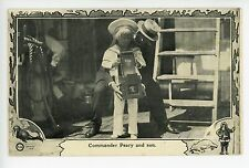 Commander Peary & Son with ANTIQUE CAMERA Rare Photography PC Arctic Exploration