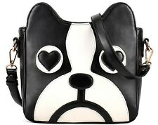 Women Fashion Leather Shoulder Bag Cute Animal Dog Handbag Nice Shopping Totes