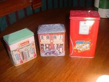 3 Vintage Novelty Gas Garage Tins incl. Coca Cola F061