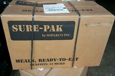 MRE SoPakCo Sure-Pak Emergency Survival Military Ration Meal Food Case of 12