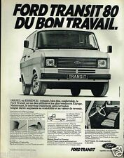 Publicité advertising 1980 Fourgon camionnette utilitaire Ford Transit