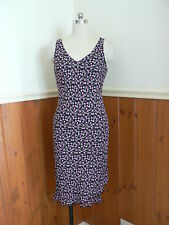 LADIES JACQUI E SUMMER FLORAL SUN DRESS PINK ROSES FLORAL BLACK SIZE 10 AUST