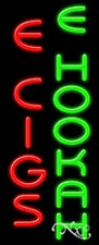 "NEW ""E CIGS E HOOKAH"" 32x13 VERTICAL REAL NEON SIGN W/CUSTOM OPTION 11547"