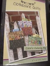 """Child'sColoring Bag ~ Clothesline Quilts ~ Pattern ~6"""" x 6"""" Finished"""