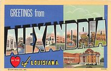 Large Letter postcard Greetings from Alexandria in the heart of  Louisiana