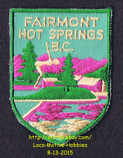 LMH PATCH Badge  FAIRMONT HOT SPRINGS  Resort Golf Course  BC British Columbia
