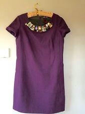 WOOL DRESS BY PAUL SMITH BLACK LABEL,EU 44 DEEP PURPLE WINTER DRESS
