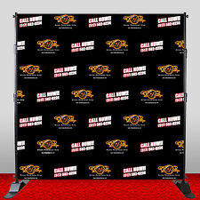 8X8 Custom Premeium Grade A1+ Polyester Backdrop Washable Wrinkle Free w/ Stand