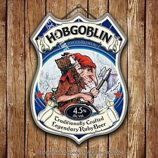 Wychwood Hobgoblin Beer Advertising Old Pub Metal Pump Badge Shield Steel Sign