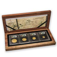 2005 South Africa 4-Coin Gold Natura Hippopotamus Proof Set - SKU #86161