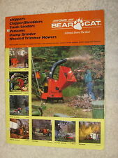 BEAR CAT CHIPPERS, SHREDDERS, VACUUMS, MOWERS, STUMP GRINDERS 20 PAGE BROCHURE