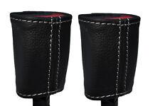 Cuciture BIANCHE si adatta TOYOTA YARIS 2005-2013 2x ANTERIORE Cintura di sicurezza in pelle copre