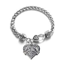Inspired Silver Customize YOUR OWN Heart Charm Bracelet