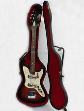 Vintage Harmony 2 Pickup H-426 Silhouette Bass with the Original Case