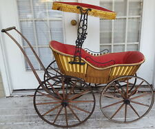 ANTIQUE VICTORIAN  BABY STROLLER - PRAM - CARRIAGE