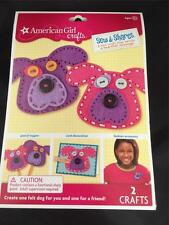 NIP American Girl Sew & Shares Craft Kit Makes Two Dogs Pin Patches