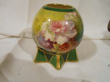 Royal Bonn ball shaped vase with six pointed star base and floral pattern