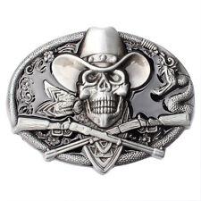 Vintage Men's Belt Buckle in Skull Pirates for Native American Cowboy (SK-17)