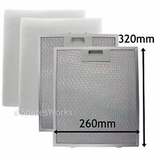 2 x UNIVERSAL Cooker Hood Vent Metal Mesh Extractor Fan Foam Filter 320 x 260 mm