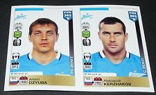 759 760 DZYUBA KERZHAKOV ZENIT ST. PETERSBURG PANINI FOOTBALL FIFA 365 2015